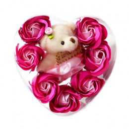 "Декоративное мыло- сувенир ""Мишка с розами"""