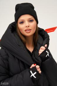 Черная шапка-бини