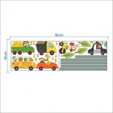 Наклейка многоразовая интерьерная «Трасса»