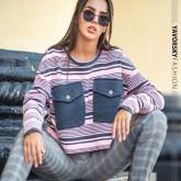 Кроп-свитер «Санти»