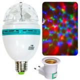 Вращающаяся LED диско лампа + переходник в розетку