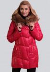 Пальто с меховой отделкой