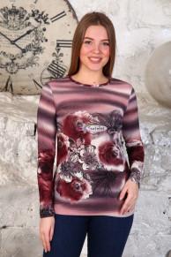 Пуловер (модель: 262 Цветы) НОВИНКА!