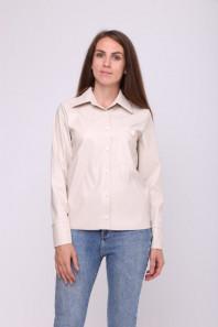 Трендовая рубашка из эко-кожи