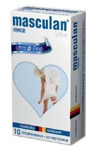 Ультратонкие презервативы Masculan Ultra Fine с обильной сма