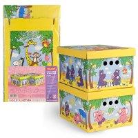 Короб картонный 25*33*18.5 см, набор 2 шт. Веселая Африка