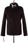06-0170 Пальто мужское демисезонное (Рост 182) Кашемир Темно