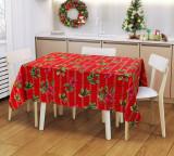 Скатерть Рождественский букет (рогожка) 120х145 см