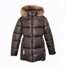 Пальто зимнее Dorima шоколад (Беларусь) рост 146