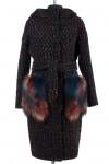 Пальто женское утепленное (пояс) Букле Черный