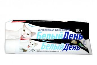 Зубная паста Белый день Белый Кот