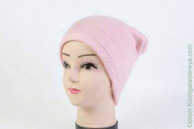 Женская шапка H9509-1A (ангора) Св.Розовая