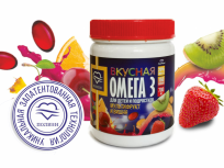 Омега-3 Вкусная со вкусом вишни и мультифрукта для детей 150