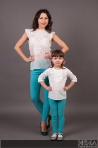 Комплект легинсов Family Look для мамы и дочки