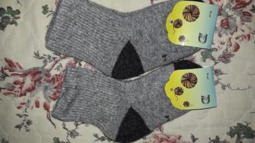 Носки детские из шерсти яка серые 4рр(16-18см)