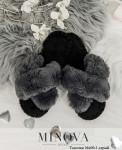Тапочки №600-1-серый