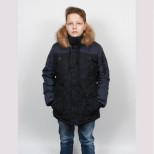 Куртка зимняя 6317(6217) синяя Пралеска (Беларусь)