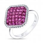 Кольцо из серебра с кубич. цирконом TS81457-R-QCR Teo Santin