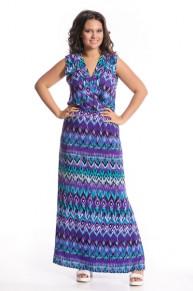 Платье 9961 принтованный штапель Аметист