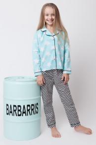 Хлопковая пижама для девочек Звездочка