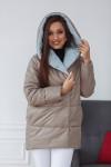 Куртка женская демисезонная 22260 (какао+голубой)