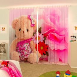 Детские фотошторы Маленькая медведица Габардин