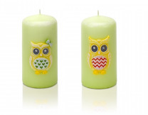 свеча Смешные совы Колонна 50*100