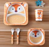 Набор детской посуды 5 предметов Олененок
