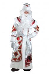 Дед Мороз серебряно-красный (д/взр) арт.161, р-р 54-56