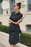 Платье-рубашка 1317 со съемной баской р.S