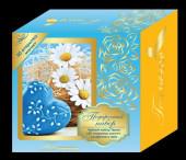 """Чайный набор TIPSON """"Синий"""" с салфеткой и 3D открыткой."""
