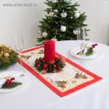 """Дорожка на стол """"Этель"""" Новогодняя сказка 30х70 см, 100% хл"""