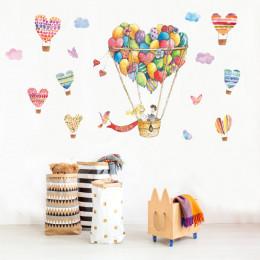 Наклейка многоразовая «Сердечки-воздушный шар»