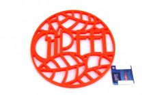 0212 GIPFEL Подставка под горячее GLUM 17х17х0,8см оранжевая