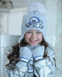 МИШАНЯ комплект (шапка, шарф, варежки)