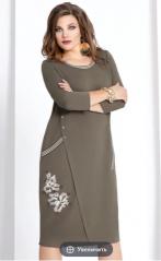 Платья Модель 6433 оливково-серый оттенок VITTORIA QUEEN
