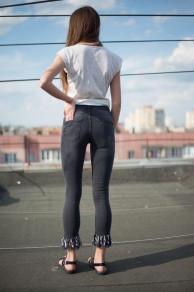 Женские джинсы Slim черные 04