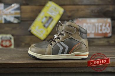 Утепленные детские ботиночки из натуральной кожи