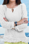 Этническая белая блузка