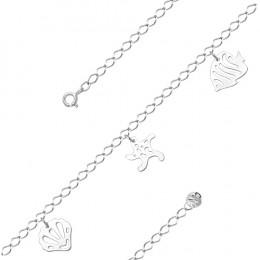 Браслет на ногу из серебра родированный  Артикул: 450-10-20
