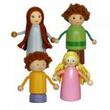 Набор пальчиковых игрушек семья 4 человека, ТМ Вальда