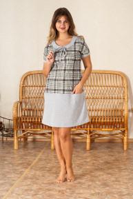 Платье женское Кулирка Шотландка-2