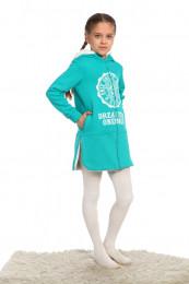 Детская толстовка-пальто (3003). Расцветка: бирюза