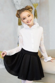 Блузка школьная для девочки (рост 122 см)
