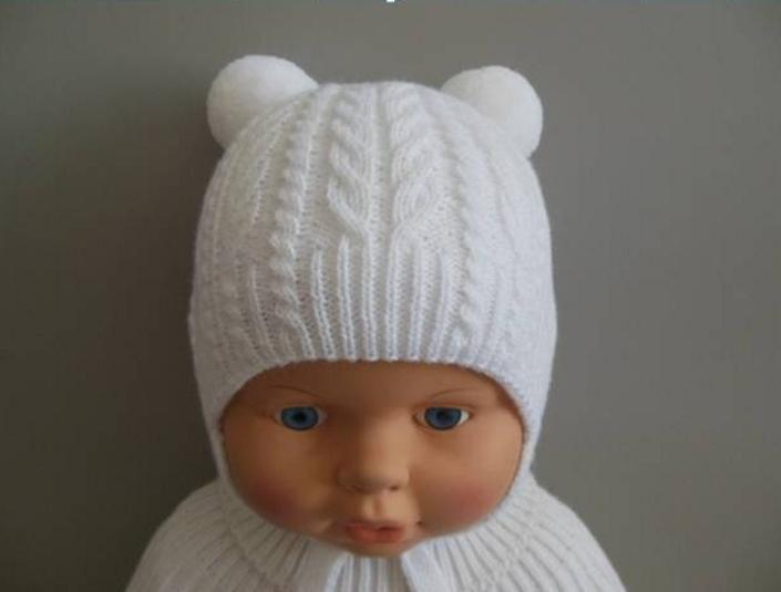 Вязание спицами шапочки новорожденному мальчику