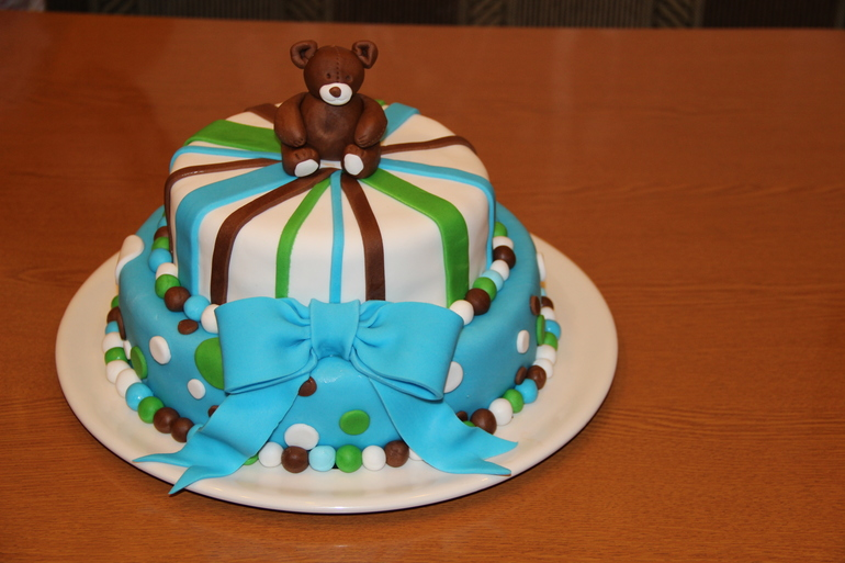 Мой второй торт с мастикой!