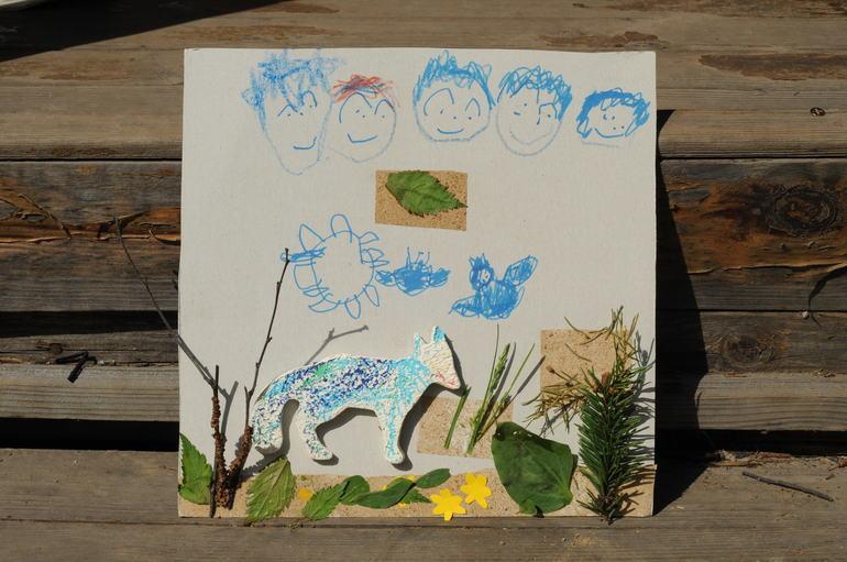 Наши дачные занятия: лисичка в сказочном лесу