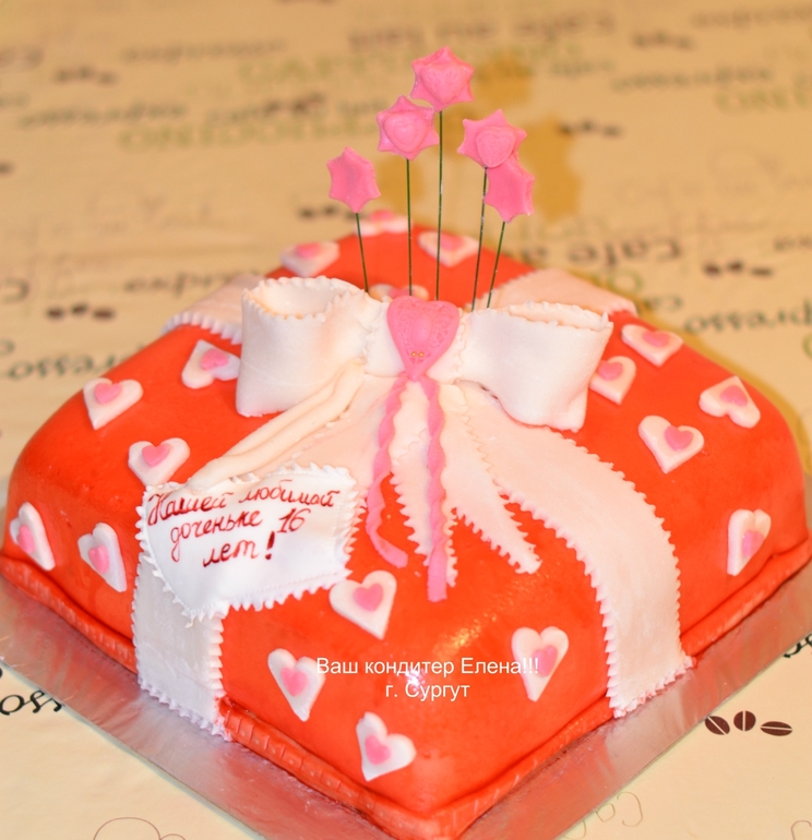 торт коробочка