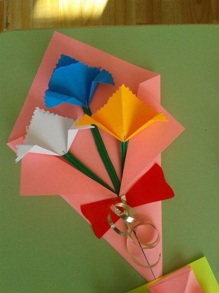 Оригами подарок для мамы своими руками из
