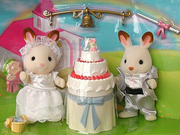 Sylvanian rabbit wedding